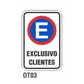 Cartel exclusivo clientes