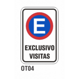 Cartel exclusivo visitas