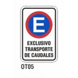 Cartel exclusivo transporte caudales