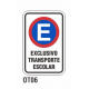 Cartel exclusivo transporte escolar