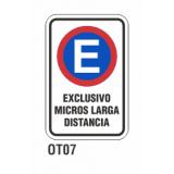 Cartel exclusivo micros larga distancia