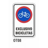 Cartel exclusivo bicicletas