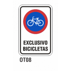 Cartel exclusivo bicicletas