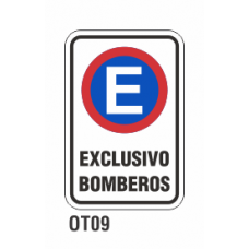 Cartel exclusivo bomberos