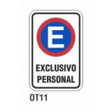 Cartel exclusivo personal