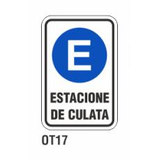 Cartel estacione de culata