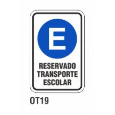 Cartel rerservado transporte escolar