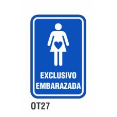 Cartel exclusivo embarazada