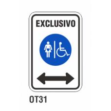 Cartel exclusivo personas movilidad reducida y embarazadas