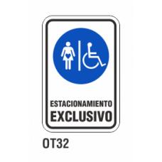 Cartel estacionamiento exclusivo
