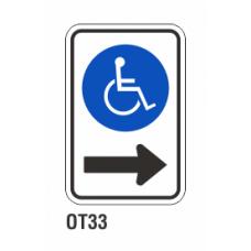 Cartel estacione a la derecha