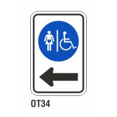 Cartel estacione a la izquierda