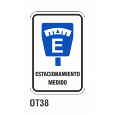 Cartel estacionamiento medido
