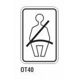 Cartel utilice cinturón de seguridad