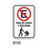 Cartel zona de carga y descarga