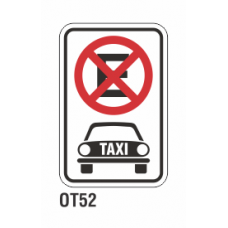 Cartel no estacionar taxis
