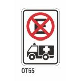 Cartel no estacionar ambulancias