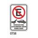 Cartel vehículos mal estacionados
