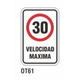 Cartel velocidad máxima