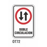 Cartel doble circulación