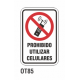 Cartel prohibido utilizar celulares