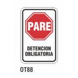 Cartel detención obligatoria