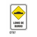 Cartel lomo de burro