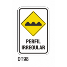 Cartel perfil irregular