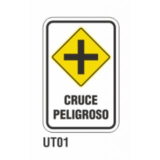 Cartel cruce peligroso
