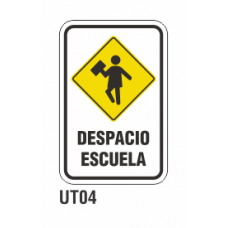 Cartel despacio escuela