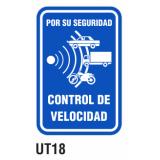 Cartel control de velocidad