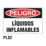 Cartel líquidos inflamables