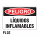 Cartel líquidos inflamables