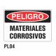 Cartel materiales corrosivos