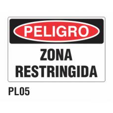 Cartel zona restringida