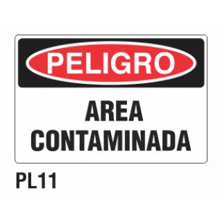 Cartel área contaminada