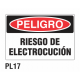 Cartel riesgo electrocución