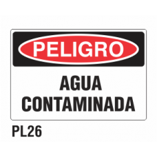Cartel agua contaminada