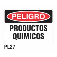 Cartel productos químicos