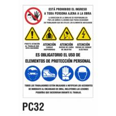 Cartel elementos de protección