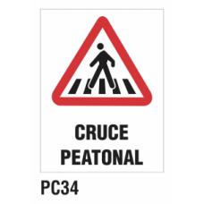 Cartel cruce peatonal