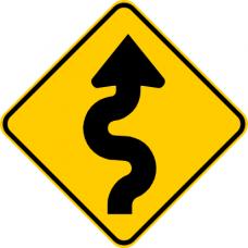 Cartel camino sinuoso