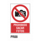 Cartel prohibido sacar fotos