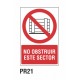 Cartel no obstruir este sector
