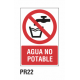 Cartel agua no potable