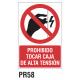 Cartel prohibido tocar caja de alta tensión