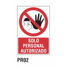 Cartel solo personal autorizado