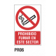 Cartel prohibido fumar en este sector