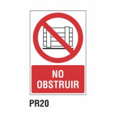 Cartel no obstruir