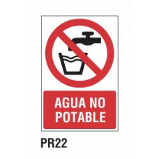 Cartel agua no potable